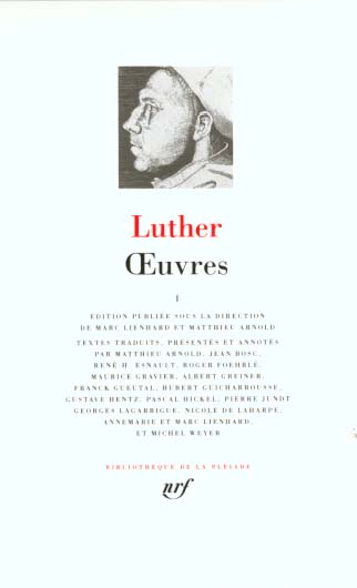 Luther Oeuvres T1